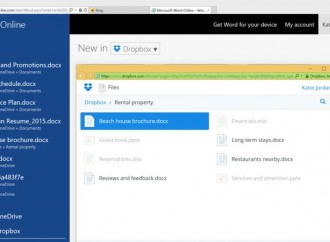 Edit file Dropbox langsung dengan Office Online