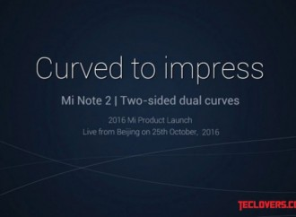 Ponsel two-sided dual curves Mi Note 2 diluncurkan 25 Oktober